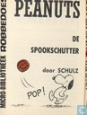 Comic Books - Peanuts - Peanuts de spookschutter