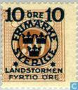 Briefmarken - Schweden [SWE] - 5 + FYRTIO # 50 Brown