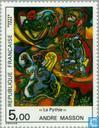 Postage Stamps - France [FRA] - Painting Andre Masson