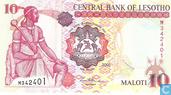 Bankbiljetten - Centrale Bank of Lesotho - Lesotho 10 Maloti