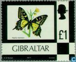 Postzegels - Gibraltar - Bloemen en dieren