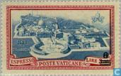 Postage Stamps - Vatican City - Pope Pius XII with print