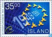Postage Stamps - Iceland - 50 years of Council of Europe