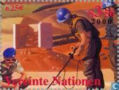 Timbres-poste - Nations unies - Vienne - Organisation des Nations Unies au 21e siècle