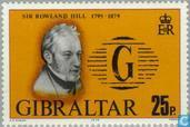 Postage Stamps - Gibraltar - Sir Rowland Hill