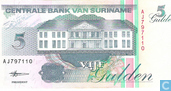 Billets de banque - Suriname - 1991-1999 Issue - Suriname 5 Gulden 1998