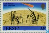 Timbres-poste - Jersey - La comète de Halley