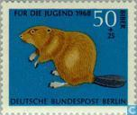 Postage Stamps - Berlin - Wild animals