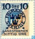 Postage Stamps - Sweden [SWE] - 5 + NITTIO # 100 blue / brown