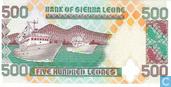 Billets de banque - Bank of Sierra Leone - Sierra Leone 500 Leones