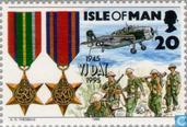 Postage Stamps - Man - End of WW II 1945-1995