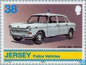 Postzegels - Jersey - Politievoertuigen
