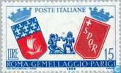 Postage Stamps - Italy [ITA] - City Partnership Paris-Rome