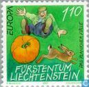 Postzegels - Liechtenstein - Europa – Sagen en legenden