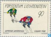 Postage Stamps - Liechtenstein - Olympic Games- Calgary
