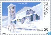 Postage Stamps - Andorra - Spanish - Church St. Joan de Caselles
