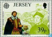 Timbres-poste - Jersey - Europe – Découverte de l'Amérique