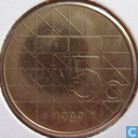 Coins - the Netherlands - Netherlands 5 gulden 1989