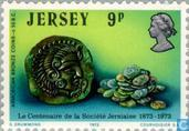 Postage Stamps - Jersey - Society 100 years
