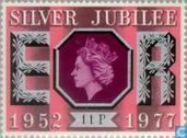 Postzegels - Groot-Brittannië [GBR] - 25 jaar regentschap koningin Elizabeth II