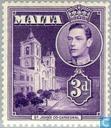 Timbres-poste - Malte - Roi George VI