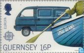 Postzegels - Guernsey - Europa – Transport en communicatie