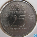 Coins - the Netherlands - Netherlands 25 cents 1965