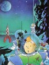 VERKEERDE RUBRIEK --> STRIP-EXLIBRIS/PRENT Hommage à Hergé - Lune