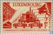 Postzegels - Luxemburg - Steenkoolunie 4 jaar