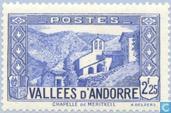 Postzegels - Andorra - Frans - Landschappen