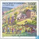 Postzegels - Andorra - Frans - Dorpsfeesten