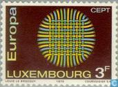 Timbres-poste - Luxembourg - Europe – Soleil tressé