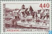 Postage Stamps - France [FRA] - Cityscape of Argentat
