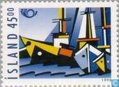 Timbres-poste - Islande - Nautiques