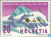 Postage Stamps - Switzerland [CHE] - Jungfrau Station Loch 50 years