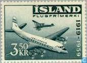 Postzegels - IJsland - 350 blauw