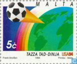 Timbres-poste - Malte - Coupe du monde football