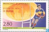 Postage Stamps - Andorra - French - Rugby World Cup