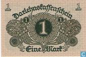 Billets de banque - Darlehnskassenschein - Reichsschuldenverwaltung, 1 mark 1920
