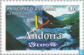 Postage Stamps - Andorra - French - World Expo, Lisbon