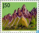 Postzegels - Liechtenstein - Bergen