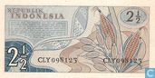Banknotes - Indonesia - 1961 Issue - Indonesia 2½ Rupiah 1961