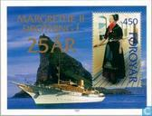 Postage Stamps - Faroe Islands - Queen Margrethe II-Jubilee