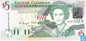 Banknotes - Eastern Caribbean Central Bank - Eastern Caribbean 5 Dollars