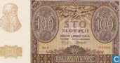 Banknoten  - Polen - 1939-1941 German Occupation Issue - Polen 100 Zlotych 1940
