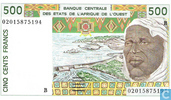 Stat Afr de l'Ouest. B 500 francs