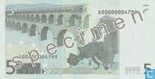 Banknotes - Eurozone - 2002 Dated 'Signature J.C. Trichet' Issue - Eurozone 5 Euro (Specimen)