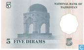Banknotes - National Bank of Tajikistan - Tajikistan 5 Dirame