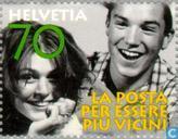 Postzegels - Zwitserland [CHE] - De Post- waarmee we tot elkaar komen