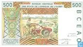 Billets de banque - Banque Centrale des Etats de l´Afrique de l´Ouest - Stat Afr de l'Ouest. B 500 francs